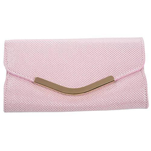 Camisin Bolsas de Mano Bolsa de Mujer Bolsa Para Mujer Bolsa Clutch Pequeeo de Fiesta de Noche de Lujo Para Seeora de Moda Bolso Monedero de Banquete (Rosado)