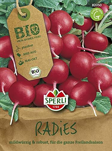 Radieschensamen - Bio-Radieschen, rund, rot Cherry Belle - BIO-Saatgut von Sperli-Samen