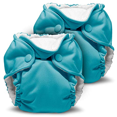 Kanga Care Lil Joey Newborn All in One AIO Cloth Diaper (2pk) Aquarius 4-12lbs