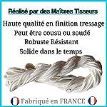 Jozigo Élastique Couture Masque - Tresse Cordon Façon Tricotin 2mm - Travaux de Confection - Loisirs Créatifs - par 10M 20M - Blanc (10 Mètres) #2