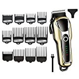 Tondeuses Coiffure powerful Hair Clipper Professional Hair Cutter Electric Trimmer Hair Cutting Machine Hair Cut Adjustable Men Tool/ 12pcs Guide Comb
