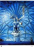 Salvador Dalí - litografía de la moderna técnica Pomodoro 38 x 28 31 x 23 cmts prensa. ¿Papel de Francia (marca) de arcos titulo Santiago el Grande edición numerada 1000 lápiz firmado pr.?/1000