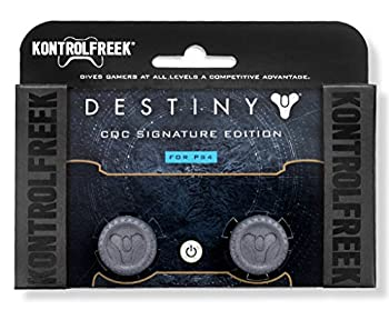 KontrolFreek Destiny CQC Signature Edition for Playstation 4  PS4  Controller | Performance Thumbsticks | 2 Low-Rise Convex | Gray