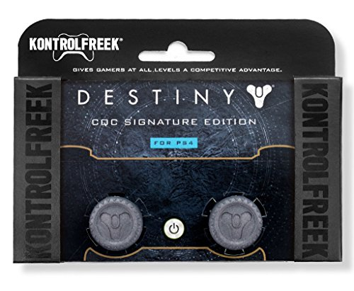 KontrolFreek Destiny CQC Signature Edition for Playstation 4 (PS4) Controller   Performance Thumbsticks   2 Low-Rise Convex   Gray