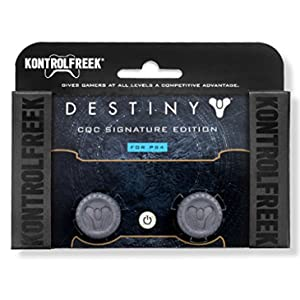 KontrolFreek Destiny CQC Signature Edition for Playstation 4 (PS4) Controller | Performance Thumbsticks | 2 Low-Rise Convex | Gray