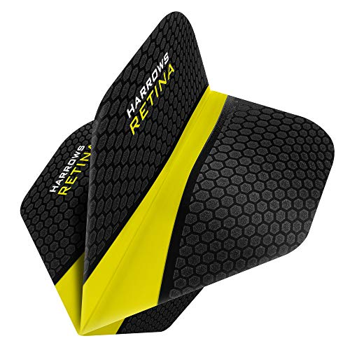 HARROWS Retina Dart Flights–5sets (15)–100micron Extra Stark–Standard–gelb