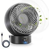 Ventilatore, Ventilatore da Tavolo USB Ventilatore Silenzioso 180 Tipi di velocità del Ve...