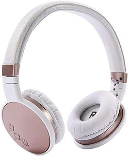 bfbd44cdd22 SELCNG Auriculares Bluetooth Inalámbrico Auriculares Plegables Auriculares,  rosa dorado