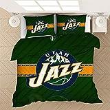 ACJIA Utah Jazz de Cama Duvet Cover Set, Deportes Admirador, Decorativo, 3 Piezas Juego de Cama con 2 Almohada Shams,B,200x230cm