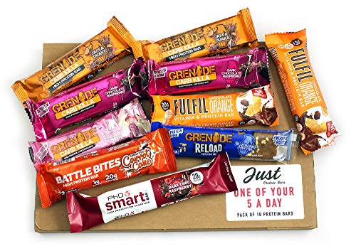 One of Your 5 A Day - Selection of The Most Loved Protein Bars from; Grenade, PhD, Fulfil & Battle Bites