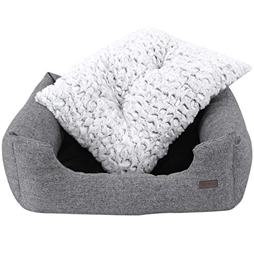 SONGMICS Hundebetten innenkissen Beidseitig Verwendbar mit unten einen Anti-Rutschboden M Außenmaße :80 x 60 x 26 cm PGW26G - 6