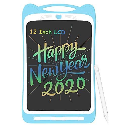 Tableta de Escritura LCD de 12 Pulgadas Niños, Suministros escolares Portátil Tableta de Dibujo Tablero Escritura Inteligente Juguetes de Aprendizaje Electrónico Escritura Tablet para Niños y Adultos