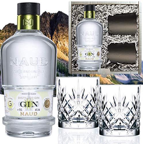 NAUD Dry Gin Geschenk Geheimtipp inkl. 2 Tumblern und Geschenkbox