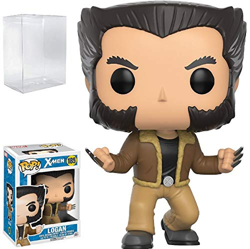 Funko Pop! Marvel: X-Men Logan Wolverine Vinyl Figure (Bundled with Pop Box Protector CASE) image