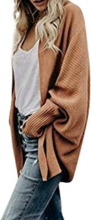 Open Front Knitted Cardigan Respctful Women Batwing Sleeve Chunky Knit Sweaters Loose Oversized