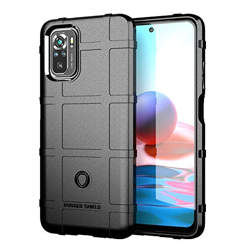 Avesfer for Xiaomi Redmi Note 10 / 10S 4G Case Military Grade Rugged Shield Heavy Duty Corner Protection Defender Cover TPU Anti-Fall Anti Impact Scratch Resistant Shock Absorbing (Black)