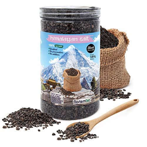NortemBio Zwart Himalayazout 1,45 Kg. Grof (2-5 mm). 100% Natuurlijk. Ongeraffineerd. Conserveringsmiddelvrij.