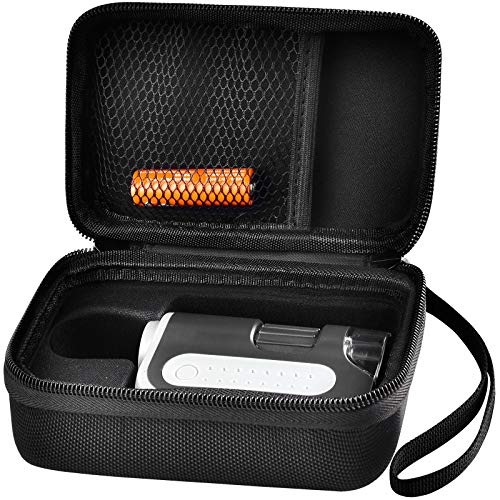 Microscope Case Compatible with Carson MicroBrite Plus 60x-120x LED Lighted Zoom Pocket Microscope, Hard Carrying Storage Bag with Accessories Pocket - Black (Case Only)