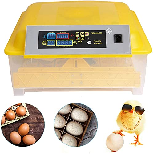 Incubadoras 48 Huevos Completamente Automáticos Incubadora Inteligente Incubadora Criadora de Motores Pollos con Pantalla LED de Temperatura y Control de Humedad (48 Huevos)