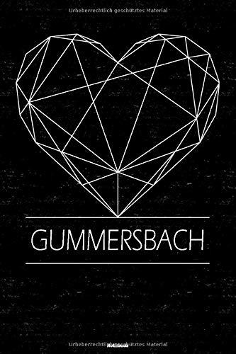 Gummersbach Notizbuch: Gummersbach Geometrisches Herz Stadt Journal DIN A5 liniert 120 Seiten Geschenk
