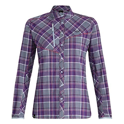 Salewa Fanes Flannel 4 Pl W L/S SRT Shirts & Blouse XS M Flint St/Pansy/WHT