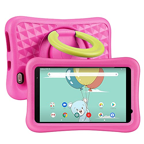 """Kids Tablet 8 inch, Android OS, 2GB RAM, 32GB ROM, Kidoz Pre Installed, 8"""" IPS HD Display, WiFi Tablet, Kid-Proof Case, Pink"""