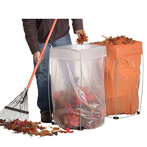 Bag Buddy Bag Holder - Versatile Metal Support Stand for 30 - 33 Gallon Plastic Bags - Use For Leaves, Yard Work, Laundry, Trash and More - 23'h