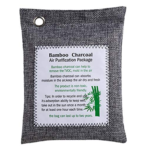 Great Deal! Waymine 【2020 Upgraded】 Bamboo Charcoal Air Purifying Bags 200g Activated Charcole N...