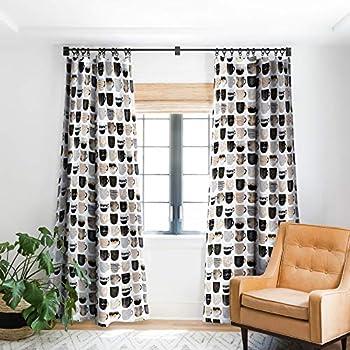 Deny Designs Elisabeth Fredriksson Pretty Coffee Cups 3 Blackout Window Curtain 50  x 96