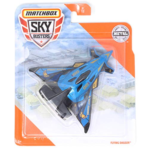 Matchbox Sky Busters Flying Dagger - Blue, Black and Gold Aircraft