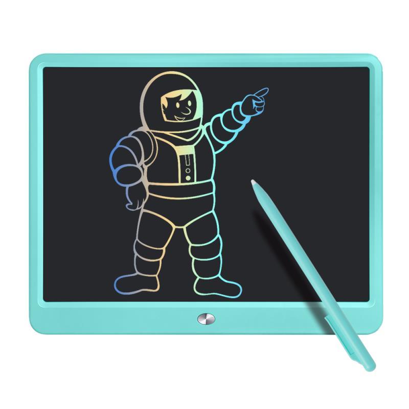 Pizarra LCD de A/N con pantalla multicolor, 15 pulgadas borrable para niños, tablero de dibujo, tabla de dibujo con cerradura de interruptor, regalo para niños adultos (15 pulgadas), color azul