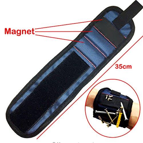 NACHEN Magnetische Polsband Met Sterke Magneten Voor Houding Schroeven Nagels Boor Bits Geweldig Voor Tool Bag DIY Reparatie Handgereedschap Sets