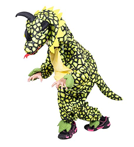 Ikumaal Dino-Kostüm Triceratops F123 Gr. 104-110, klein-e Kind-er Dinosaurier-Kostüme Saurier Drache-n Fasching-s Karneval-s Geburtstags-Geschenk