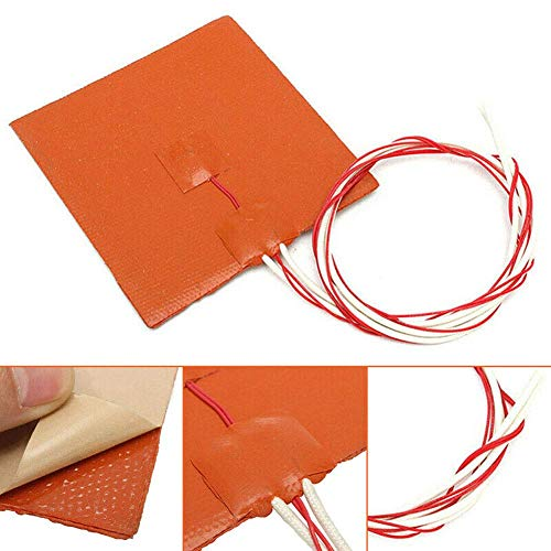 Domeilleur 120x120mm 12V 120W Silicone Heater Pad 3D Printer Heated Bed Heating Mat Printer Supplies 3d printer heated bed