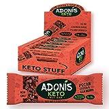 Adonis Low Sugar Nut Bar - Barritas de Pacanas Crujiente Sabor de Cocoa | 100% Natural, Baja en Carbohidratos, Sin Gluten, Vegano, Paleo, Keto (16)