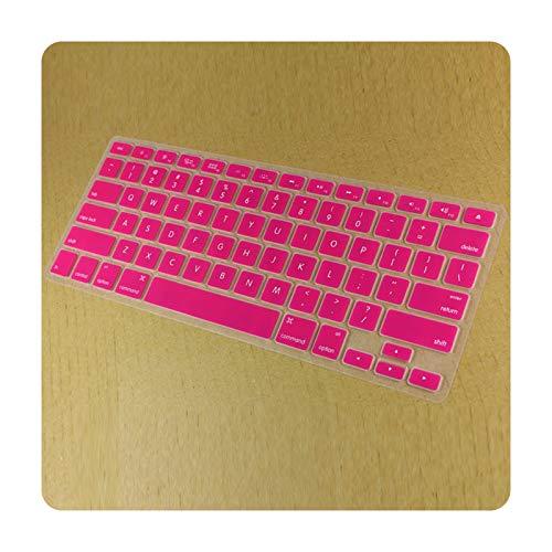 Funda protectora de silicona para MacBook Pro Retina de 13 pulgadas, 15 pulgadas, 17 pulgadas, color rosa