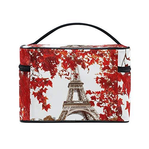 RELEESSS Bolsa de viaje para maquillaje de la Torre Eiffel grande bolsa de cosméticos organizadora bolsa de aseo bolsa de maquillaje para mujeres y niñas