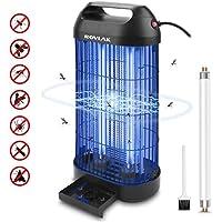 ROVLAK Lámpara Antimosquitos Electrico Antimosquitos Interior Enchufe con 14 Vatios de Luz UV Repelente de Mosquitos Lámpara de Mosquitos para la Cocina la Sala de Estar el Cuarto de los Niños, Negro