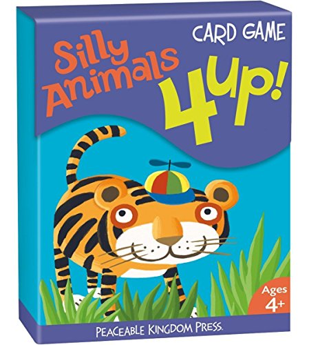 Peaceable Kingdom / 4 Up! Silly Animals Card Game