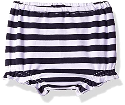 Zutano Baby Girls' Cotton Bloomer, Navy/White, 12M (6-12 Months)
