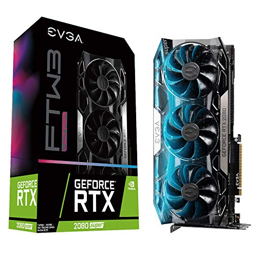 EVGA GeForce RTX 2080 SUPER FTW3 ULTRA, OVERCLOCKED, 2.75 Slot Extreme Cool Triple + iCX2, 65C Gaming, RGB, Metal Backplate, 08G-P4-3287-KR, 8GB GDDR6