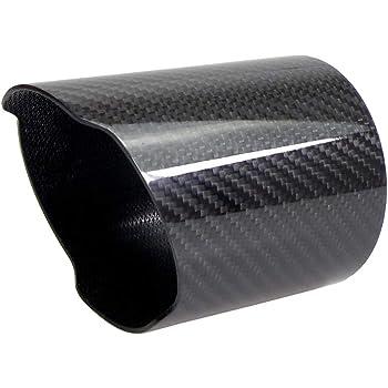 Kipalm Car Universal Exhaust Pipe Carbon Fiber Cover Exhaust Muffler Pipe Tip Carbon Fiber Case Exhaust Tip Housing