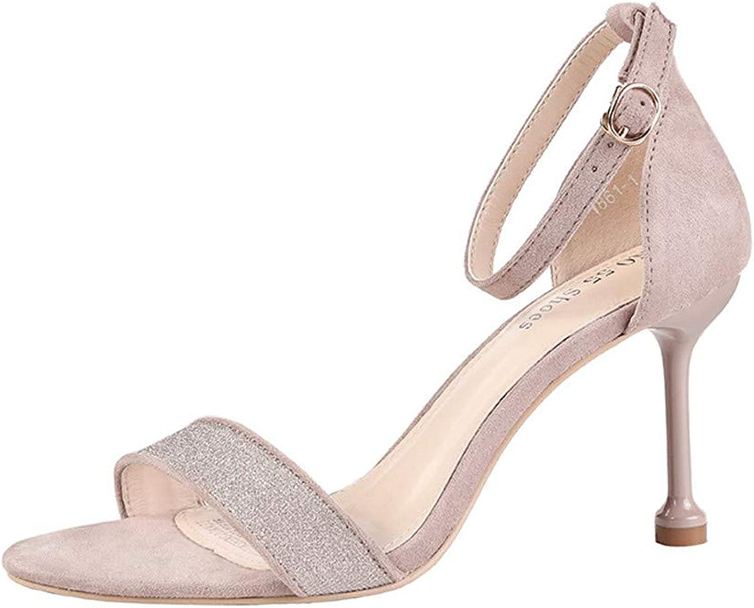 Fashion Toe-Baring High-Heeled Sandals Evening Dress Party with High-Heeled Women's shoes
