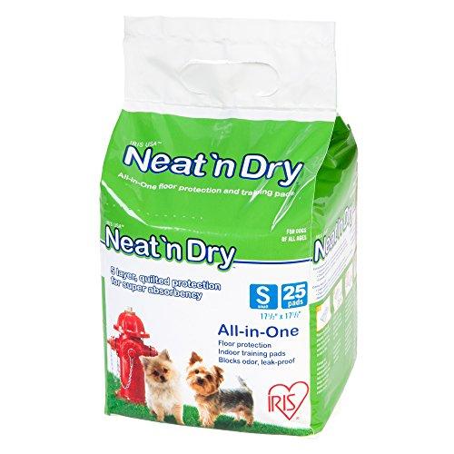 IRIS Neat 'n Dry Premium Pet Training Pads, Small, 17.5