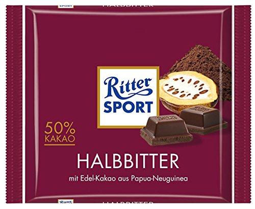 Ritter Sport Halbbitter 50% Kakao - 100gr - 4x