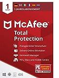 McAfee Total Protection 2021 | 1 Geräte | 1 Jahr | Antivirus Software, Virenschutz-Programm,...