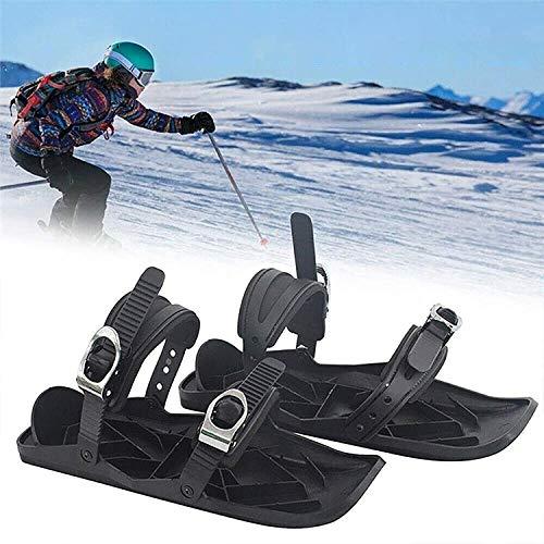 SOAR Raquetas Nieve Mini patines de esquí para nieve, Zapatillas de esquí de tablero de nieve al aire libre, Zapatos de esquí de deportes universales para esquiar deportes Hockey sobre hielo Patines A
