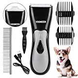 VOONEEN Dog Grooming Clippers, Pet Hair Remover Clippers Rechargeable Cordless Dog Hair Trimmer Accessories Professional Tool with 2 Comb Guides for Dogs Cats & Other Animals Low Noise