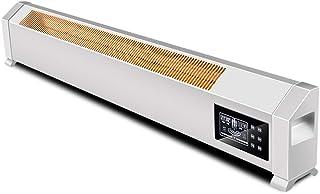 Radiador eléctrico MAHZONG Conversor de frecuencia Inteligente del Calentador de zócalo, Calentamiento rápido, Impermeable, Colgante de pared-3000W