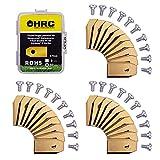 HRC Cuchillas de Repuesto de Titanio, compatibles con los Robots cortacésped Husqvarna/Gardena, Cuchillas de Acero Inoxidable duraderas, Tornillos incluidos, 30 Piezas